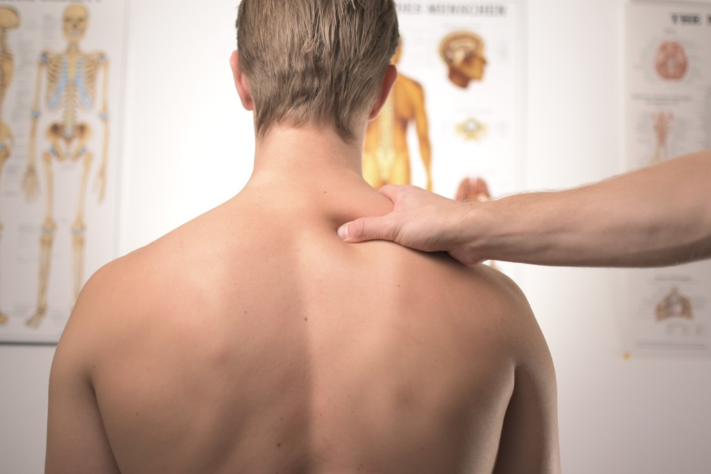 Muscle guarding with a frozen shoulder