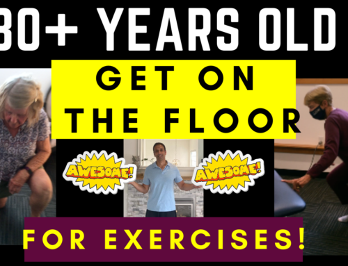 Inspirational 80+ year olds get on the floor to exercise
